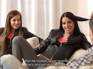 DADDY4K. 18-Years-Old 18yo schoolgirls with ease seduce old daddy to...