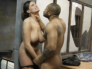 Prisoner fuck lawyer with big natural tits in jail