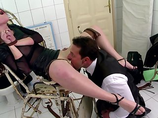 Teen gets spanked and gagged in a brutal maledom fuck