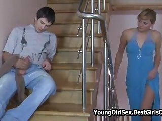 Sexy Russian Blonde Milf Fucks Young Neighbour