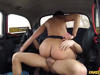 Pervert taxi driver fucked Katrina Moreno on the backseat