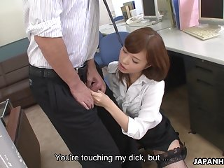 Shy colleague gets attacked by a dick crazed vixen