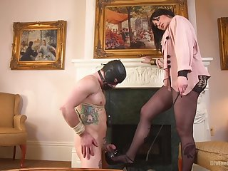 Kinky games is amazing between Maitresse Madeline Marlowe and her lover