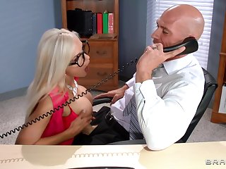 Pornstars playing as secretaries and getting fucked - compilation