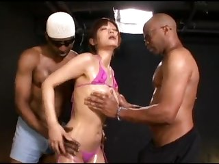Haruki Sato Japanese Woman Audition Threesome Sex Monster Penis 40cm African Man