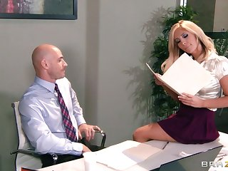 Big tits and ass Tasha Reign fucked on the table by her teacher