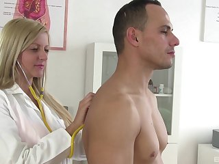 Wild fucking in the doctors office with stunning blonde Summer