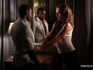 Hypnotizing erotic video featuring Tina Kay and her black lover