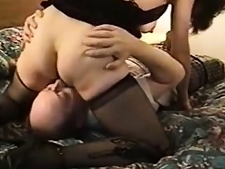 cuckold, hubby licks girl's creamed pussy