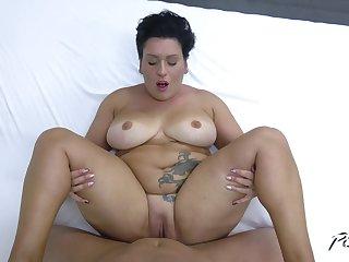BBW mature Aisha Bahadur knows how to pleasure a huge boner