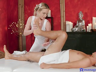 Kinky blonde masseur Cristal Caitlin loves having sex with clients