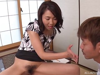 Asian model Shihori Endoh spreads her legs to tease and gets fucked