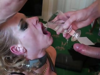 Rough mouth and pussy fucking of mature blonde Anita Vixen