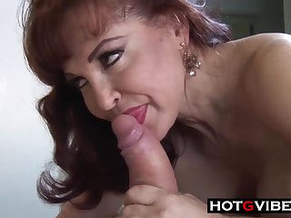 Mature milf in erotic, black stockings got her daily dose of fuck, from the back