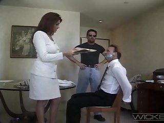 Wife Rayleene spreads her legs to be fucked by a stranger. Cuckold