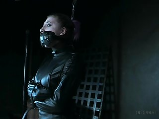 Naked and restrained bitch Lex Luthor gets punished in the BDSM room